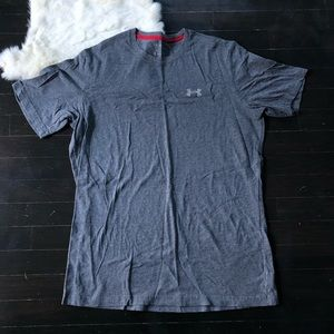 Men's under Armour tee shirt workout top gray